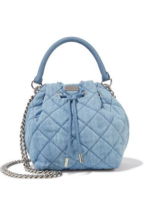 STELLA McCARTNEY Quilted denim bucket bag