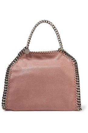 STELLA McCARTNEY Mini color-block faux brushed-leather tote