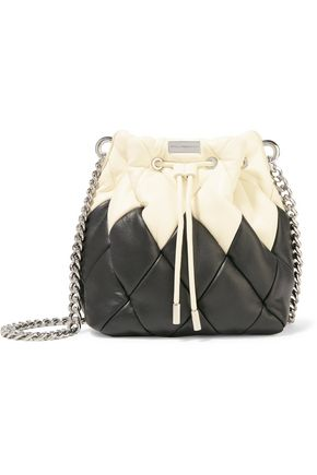 STELLA McCARTNEY Two-tone faux quilted leather bucket bag