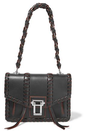PROENZA SCHOULER Hava whipstitch-trimmed leather shoulder bag