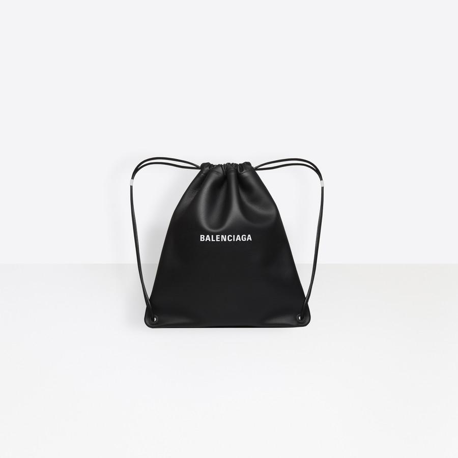 BALENCIAGA Everyday Drawstring Backpack Shopping bags Man f