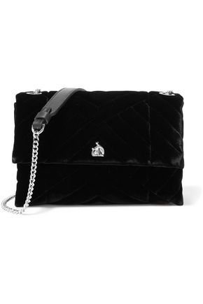 LANVIN Sugar mini quilted velvet shoulder bag