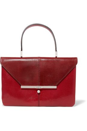 VALENTINO Snake-effect leather shoulder bag