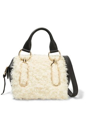 SEE BY CHLOÉ Small shearling and leather shoulder bag