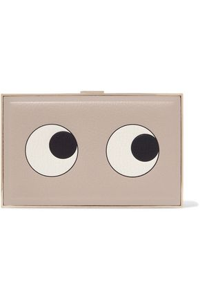 ANYA HINDMARCH Eyes printed textured-leather clutch
