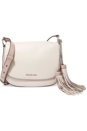 MICHAEL MICHAEL KORS Elyse tasseled textured-leather shoulder bag