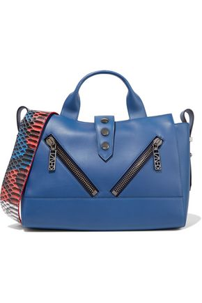 KENZO Python effect-trimmed leather tote