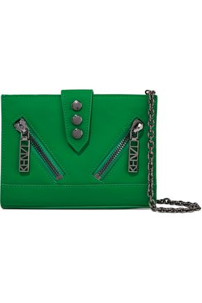 KENZO Coated-leather shoulder bag