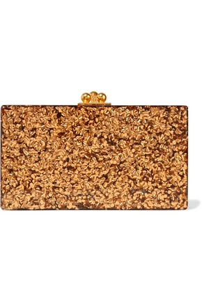 EDIE PARKER Jean glittered acrylic box clutch