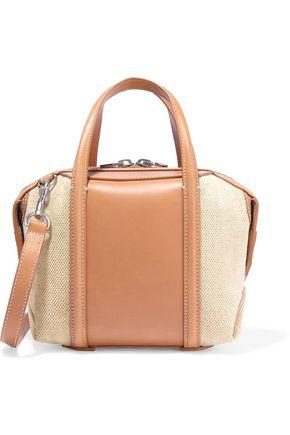 ALEXANDER WANG Emile mini leather and canvas shoulder bag