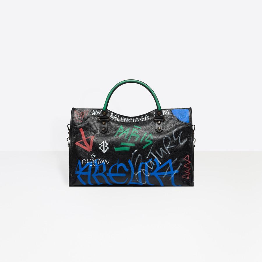 BALENCIAGA Classic City Graffiti Long Strap Seasonal Handbag Woman d