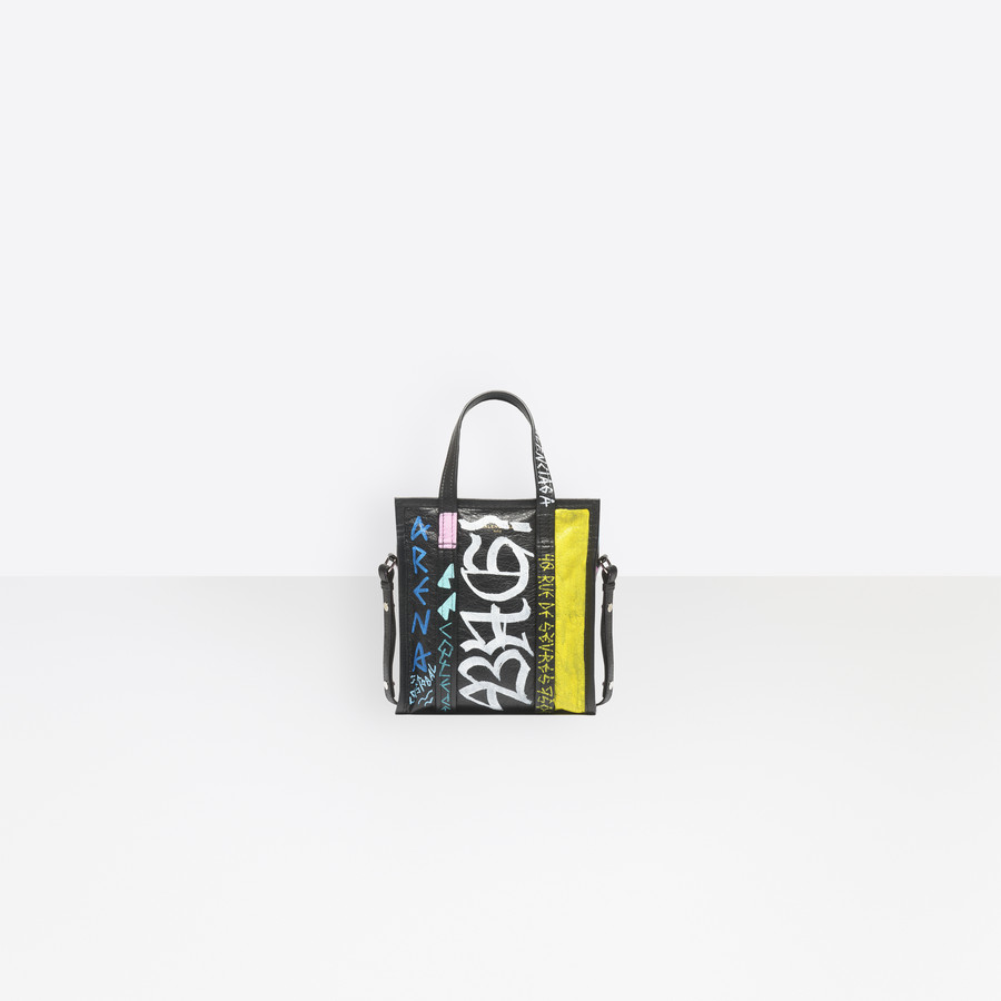 BALENCIAGA Graffiti Bazar Shopper XS Bazar handbags D f