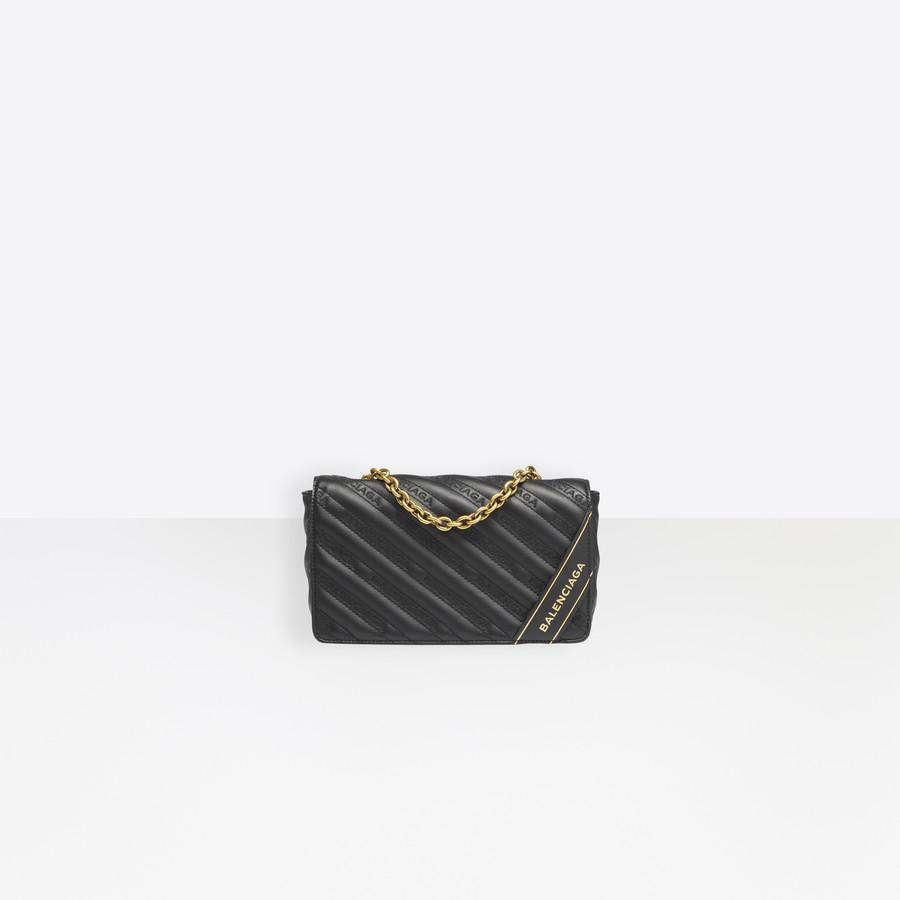 BALENCIAGA Blanket Chain Wallet Blanket Handbags D f
