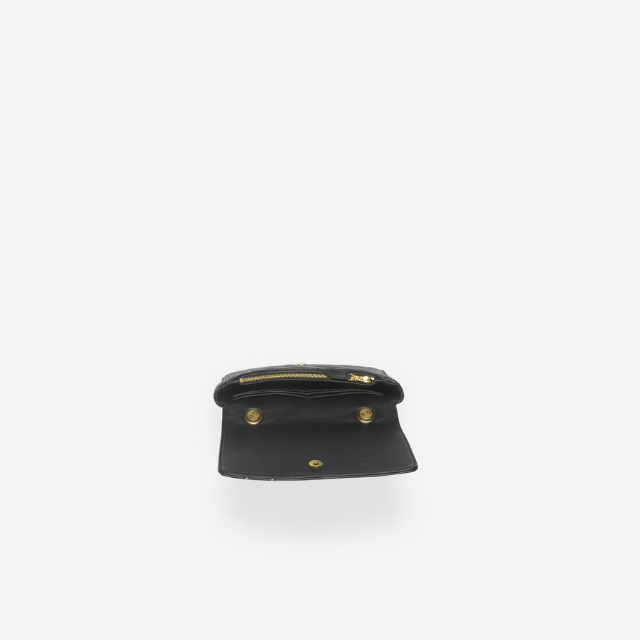 BALENCIAGA Blanket Chain Wallet Blanket Handbags D e