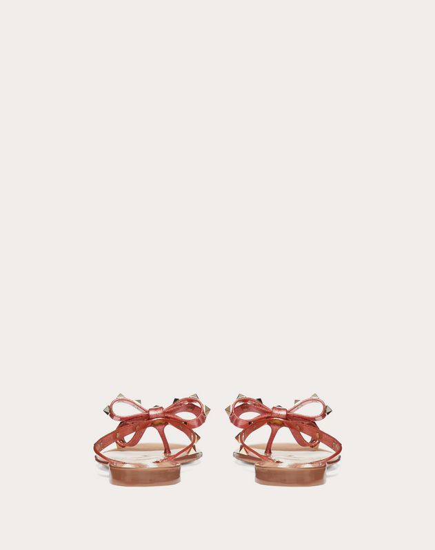 4a915c7fd24 Glittery Rubber Rockstud Thong for Woman | Valentino Online Boutique