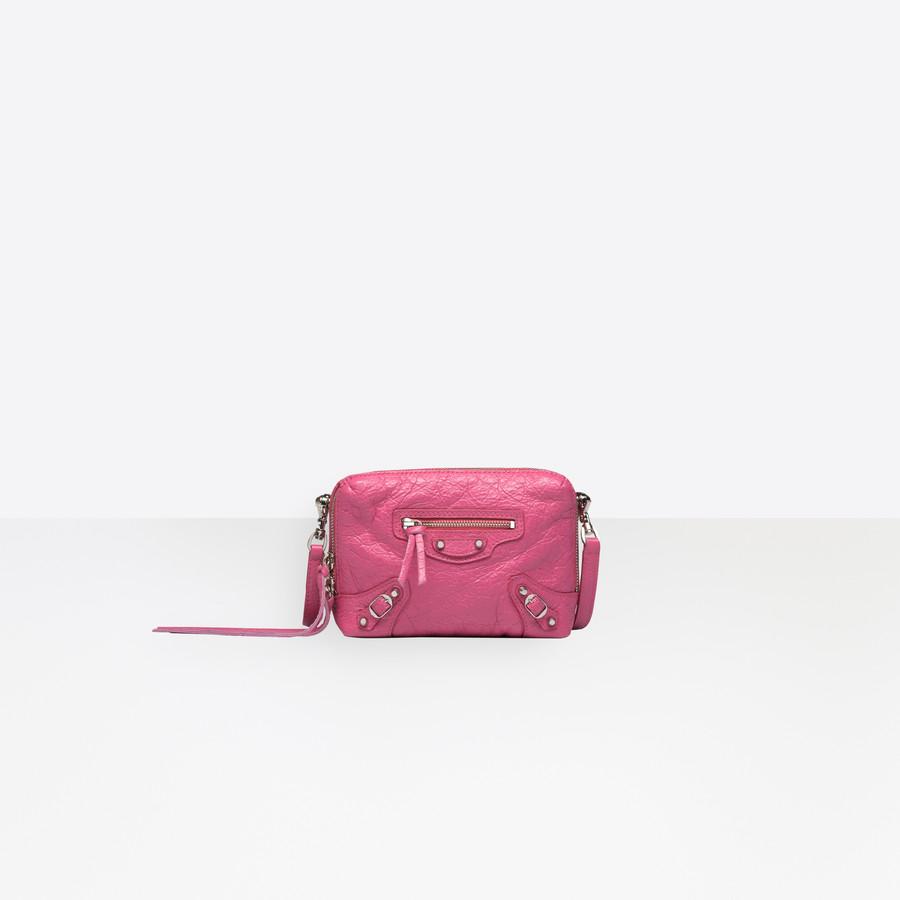BALENCIAGA Classic Silver Reporter XS Classic City Handbag Woman f