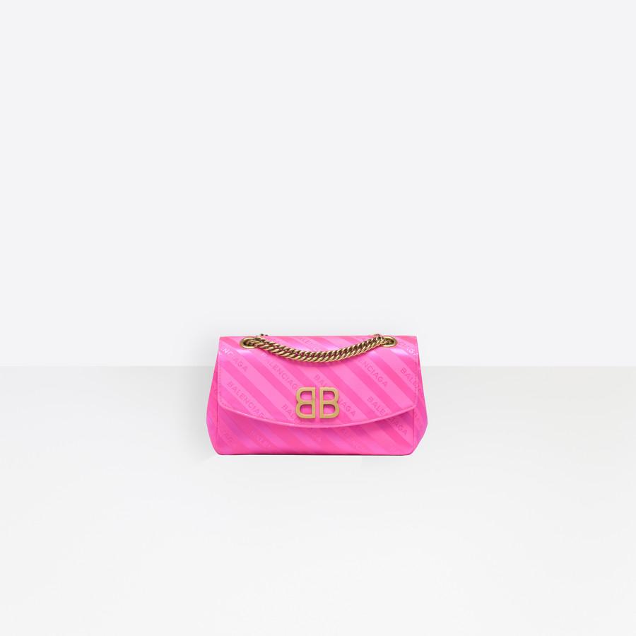 BALENCIAGA Chain Round S BB Handbags D f