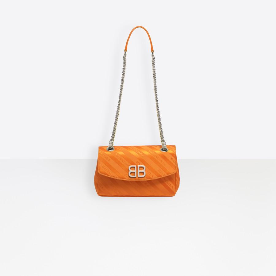 BALENCIAGA Chain Round S BB Handbags D a