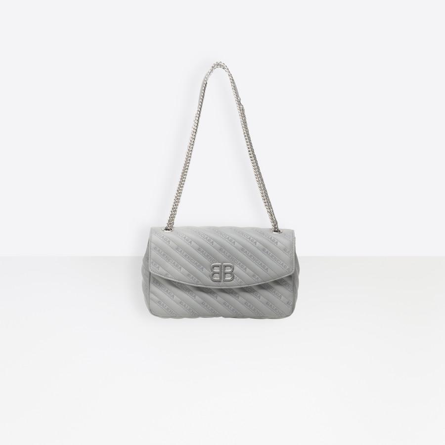 BALENCIAGA BB Round M Seasonal Handbag Woman a
