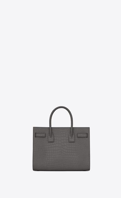 SAINT LAURENT Baby Sac de Jour D classic Baby SAC DE JOUR Bag in ashpalt gray Crocodile Embossed Shiny Leather  b_V4