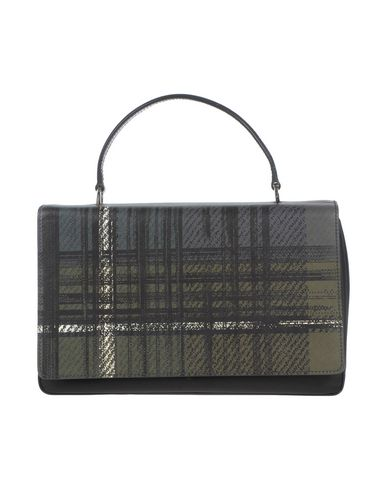 PRADA レディース ハンドバッグ ブラック 革 / 紡績繊維