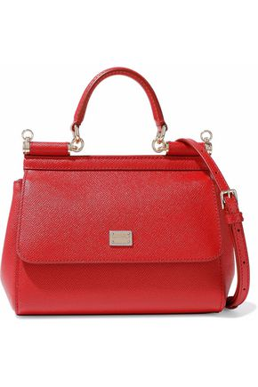 DOLCE & GABBANA Pebbled-leather shoulder bag