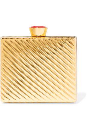 STELLA McCARTNEY Gold-tone box clutch