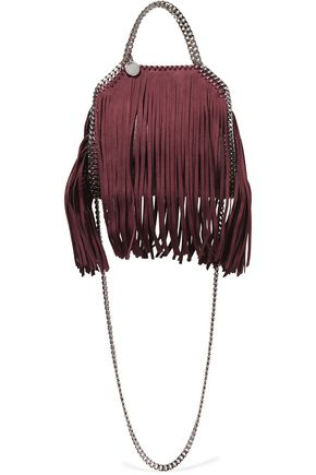STELLA McCARTNEY Tiny Falabella fringed faux brushed leather tote