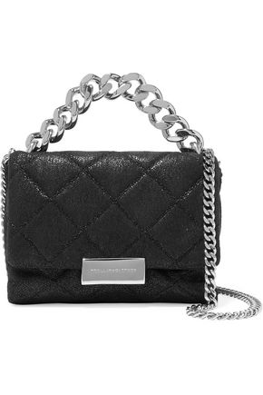 STELLA McCARTNEY Small quilted faux brushed-leather shoulder bag
