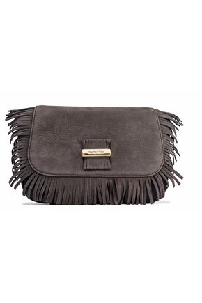SEE BY CHLOÉ Two-tone fringed nubuck and leather shoulder bag
