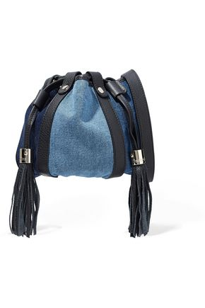 SEE BY CHLOÉ Leather-trimmed denim shoulder bag
