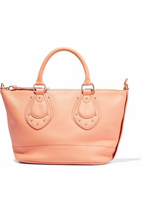 SEE BY CHLOÉ Studded pebbled-leather shoulder bag