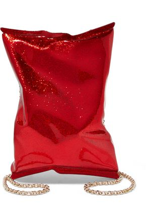 ANYA HINDMARCH Glittered acrylic clutch