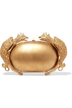 VALENTINO Gryphon gold-tone clutch