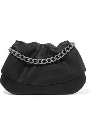 JIL SANDER Chain-trimmed leather clutch