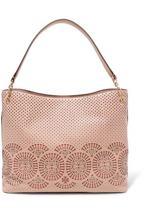 TORY BURCH Zoey perforated laser-cut leather tote