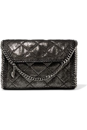STELLA McCARTNEY Quilted coated faux leather shoulder bag