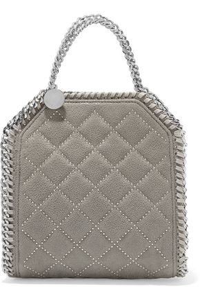 STELLA McCARTNEY Tiny Falabella faux brushed-leather tote