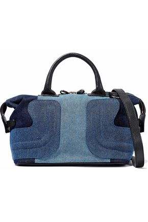 SEE BY CHLOÉ Leather-trimmed denim tote