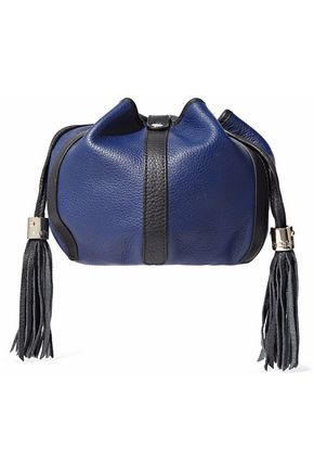 SEE BY CHLOÉ Tasseled two-tone pebbled-leather bucket bag