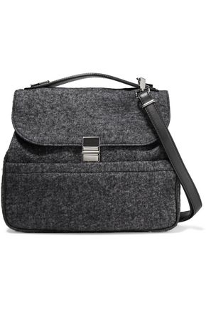 PROENZA SCHOULER Felt and leather shoulder bag
