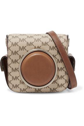 MICHAEL KORS Leather-paneled canvas shoulder bag