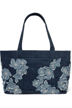 MICHAEL MICHAEL KORS Embroidered denim tote