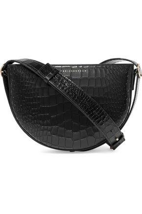 VICTORIA BECKHAM Baby Half Moon croc-effect leather shoulder bag