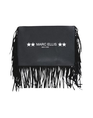 MARC ELLIS レディース ハンドバッグ ブラック ポリ塩化ビニル 100%