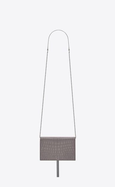 SAINT LAURENT Mini bags Kate Woman Kate chain wallet with tassel in stamped crocodile leather b_V4