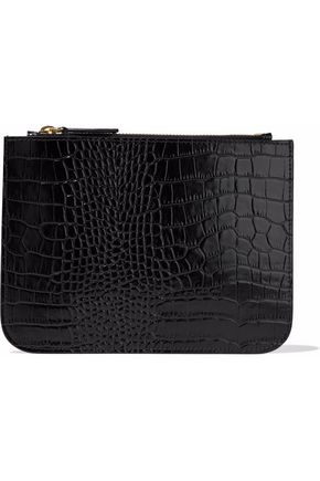 IRIS AND INK Blake croc-effect leather pouch