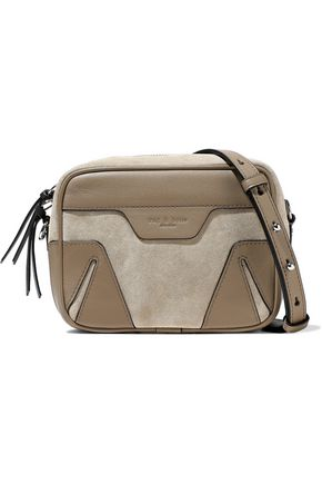 RAG & BONE Leather-paneled suede shoulder bag