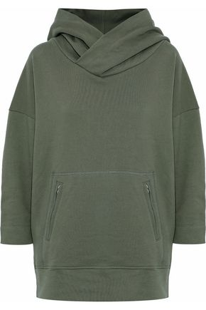 MIKOH Cotton-terry hooded sweatshirt