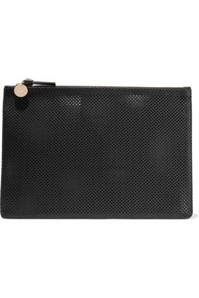 MASTER&MUSE x CLARE V. Perforated leather clutch